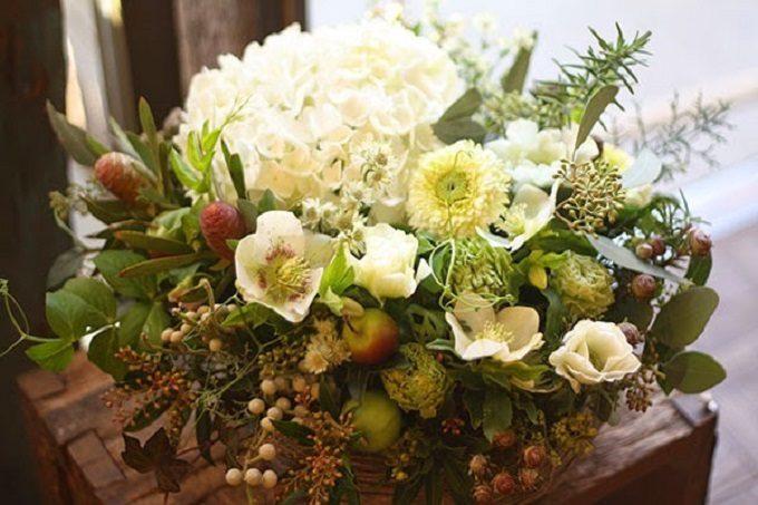 お花屋さん「花子」の大人っぽいカラーの花々