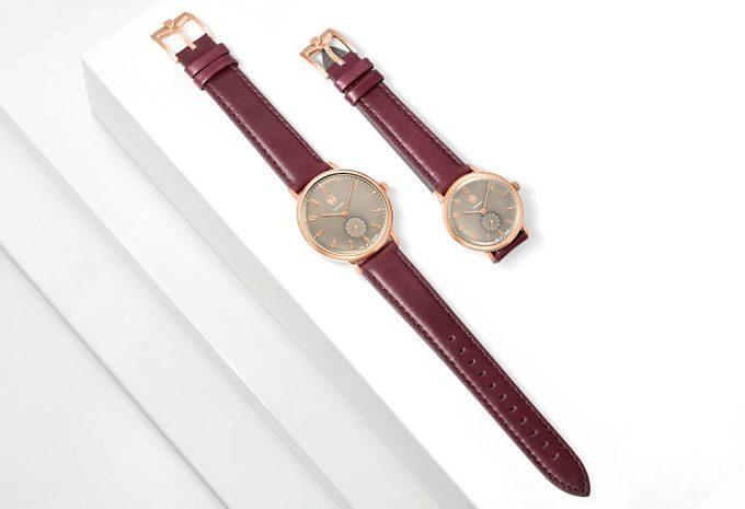 秋冬におすすめのシンプルデザインに大人なカラーが魅力な「DUFA」の腕時計2