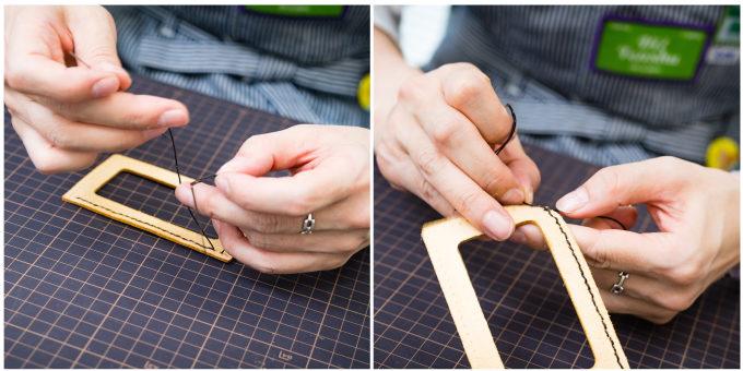 東急ハンズおすすめの手作り革小物キットの作り方2