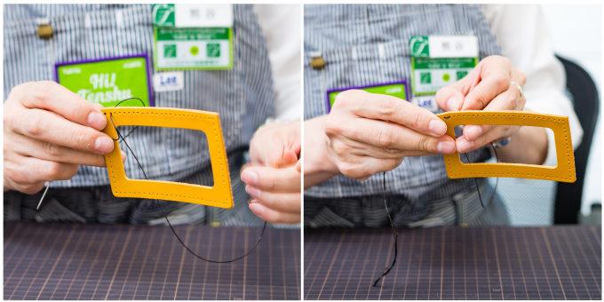 東急ハンズおすすめの手作り革小物キットの作り方1
