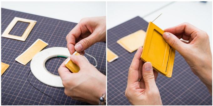 東急ハンズおすすめの手作り革小物キットの作り方4