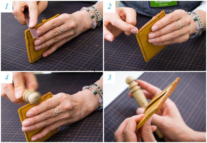 東急ハンズおすすめの手作り革小物キットの作り方7