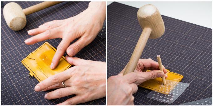 東急ハンズおすすめの手作り革小物キットの作り方8