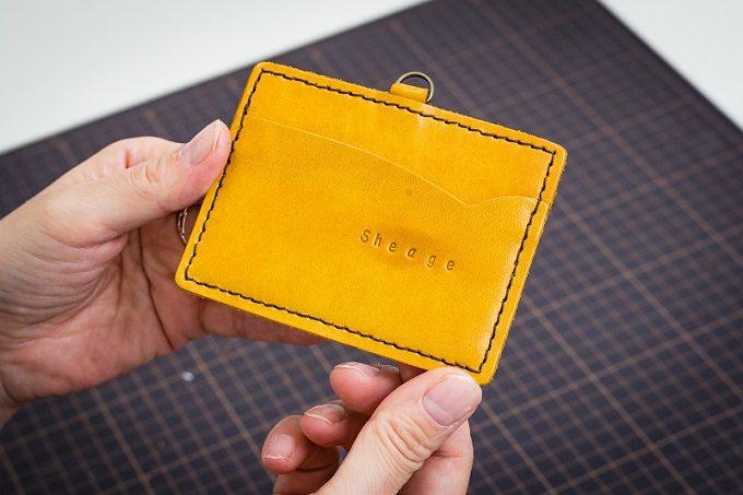 東急ハンズおすすめの手作り革小物キットの作り方9