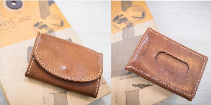 東急ハンズのおすすめ簡単革小物キット「makeU(メイク・ユー)」の革の手縫いキット「コインケース カード入れつき」