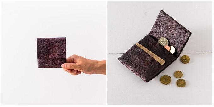 大人におすすめ、手漉き和紙を使った「帋屋(かみや)」のシンプルで上質なコインケース