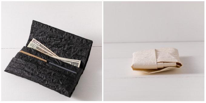 大人におすすめ、手漉き和紙を使った「帋屋(かみや)」のシンプルで上質な長財布