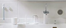 使いやすく、置いたときに邪魔にならないデザイン。「きれいに暮らす。」のシンプルな洗面小物