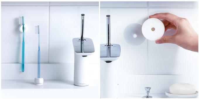 「きれいに暮らす。」のおしゃれでシンプルな洗面小物、歯ブラシホルダー