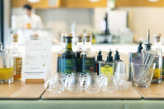 OLIVIERS&CO恵比寿店のオリーブオイルとビネガー