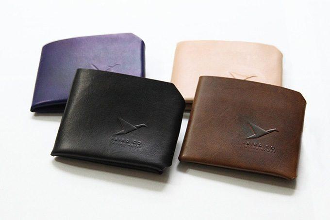 「Jbird Co.(ジェイバード・コレクティブ)」のシンプルな革のミニ財布「Origami Wallet(オリガミウォレット)」、カラー展開1