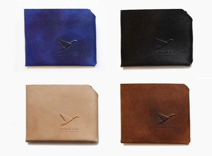 「Jbird Co.(ジェイバード・コレクティブ)」のシンプルな革のミニ財布「Origami Wallet(オリガミウォレット)」、カラー展開2