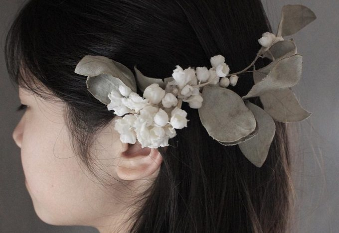 Rie Katoriの布花ヘッドドレス