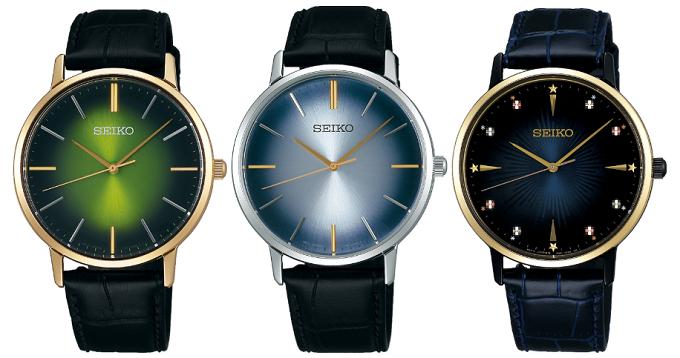 大人女子におすすめのセイコーの腕時計「ゴールドフェザー」復刻版のカラーバリエーション