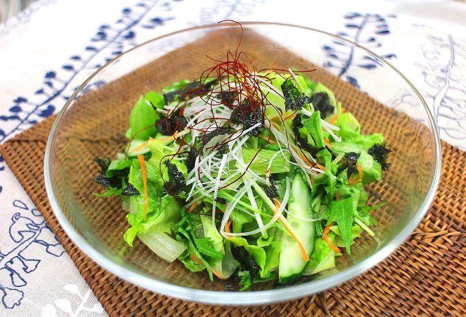 粉末ガラスープを使った韓国風「チョレギサラダ」レシピ