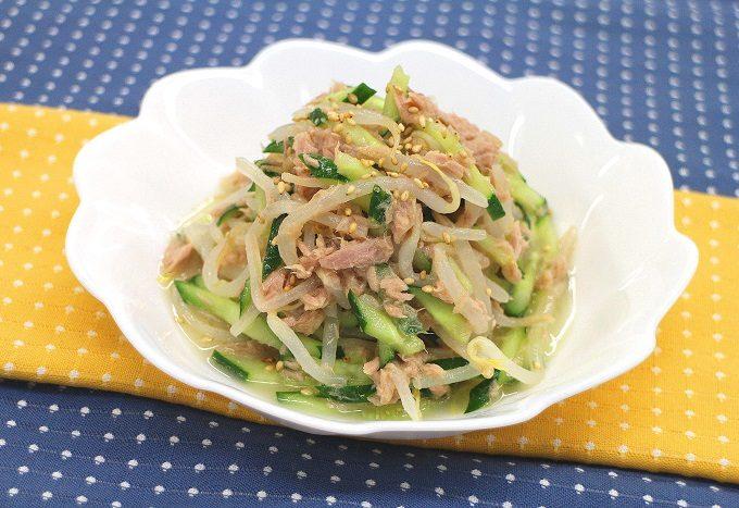 粉末ガラスープを使った「もやしときゅうりの中華風サラダ」レシピ