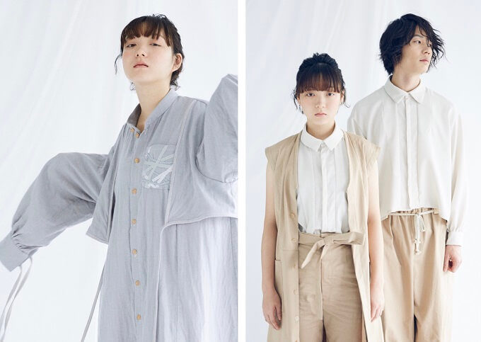 ファッションブランドumuの2019年春夏コレクションの写真
