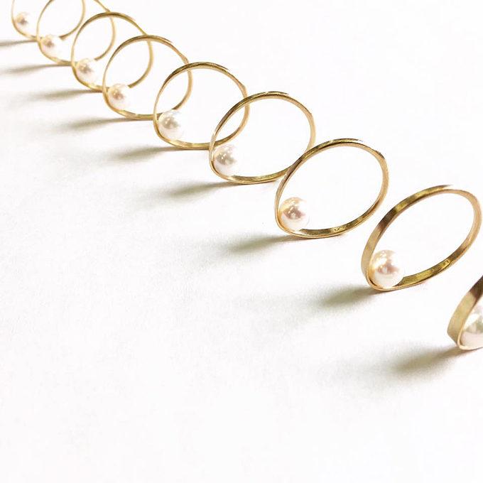 大人女子におすすめのパールアクセサリー「uran jewelry works(ウランジュエリーワークス)」のリング