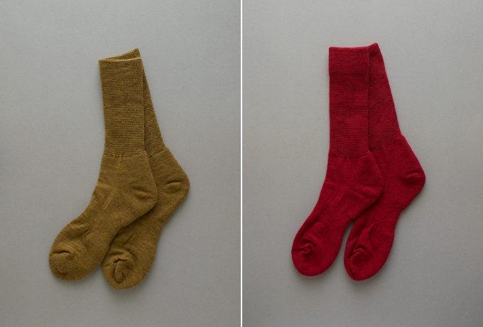 自然素材を使ったグリュックントグーテの靴下「絹ウール二層靴下ミドル丈」