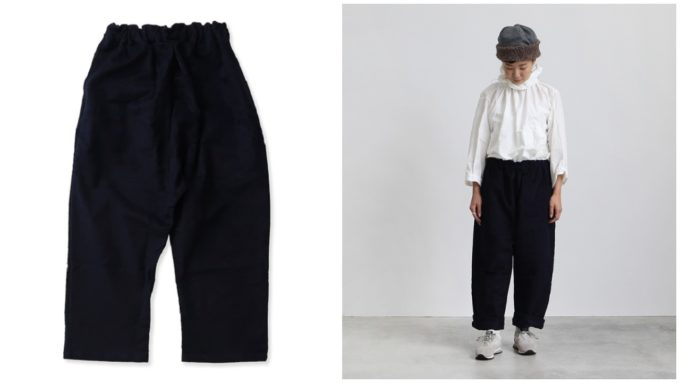 ヤーモのゆったりとした黒パンツ