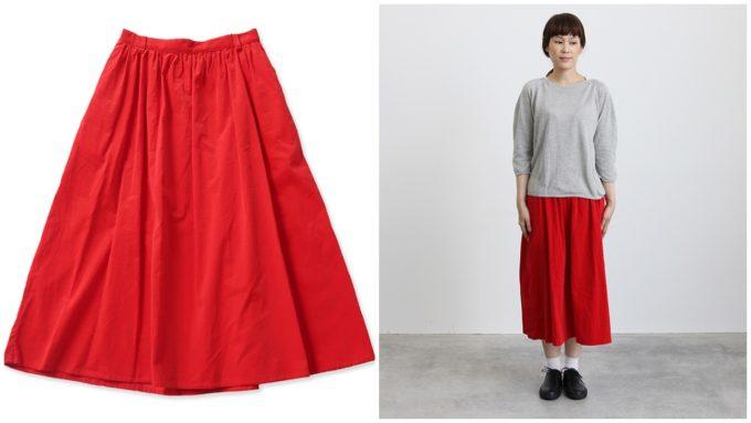 ビュルデサボンのロングスカート