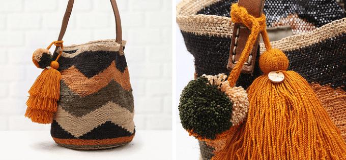秋冬ファッションにおすすめの「CHILA BAGS(チラバッグス)」の秋冬カラーの手編みバッグ