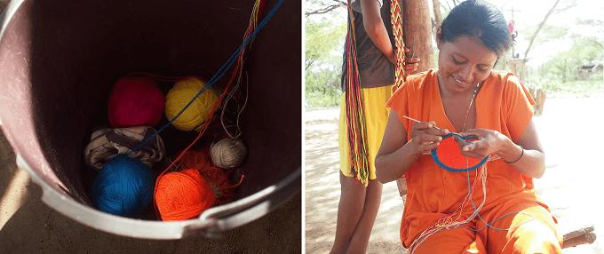 「CHILA BAGS(チラバッグス)」の手編みのバッグ、制作工程