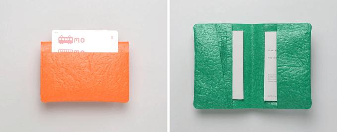 「PE」のポリエチレン素材のカードケース2種類