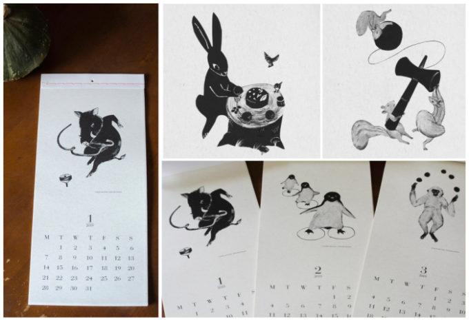2019年おすすめの動物たちにほっこり。「アトリエ エナガ」のおしゃれな壁掛けカレンダー