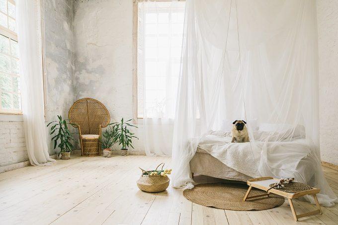 一人暮らしの部屋、寝室
