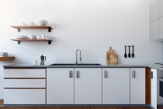 一人暮らしの部屋、キッチン