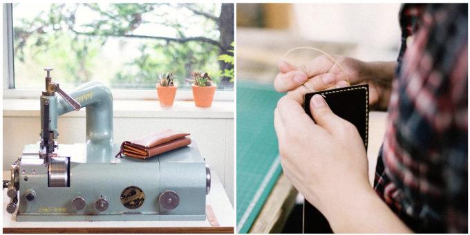 「Duram Factory(ドゥラムファクトリー)」のミシンと手縫いの工程