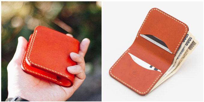「Duram Factory(ドゥラムファクトリー)」のコンパクトな二つ折りの革財布