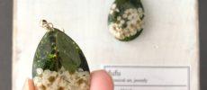 草花を使った「fufu」のイヤーアクセサリー