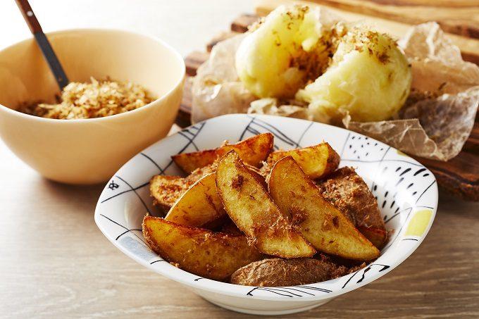 ふりかけを使った包丁いらずで簡単。「混ぜ込みフライドポテト」のレシピ