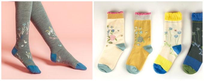 大人可愛い「KURI BOTELLA (クリ・ボテラ)」のタイツと靴下