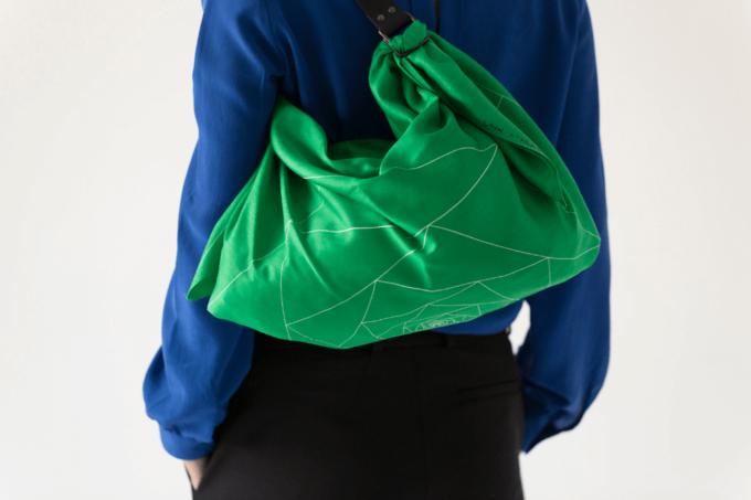 風呂敷をバッグに出来る「Link」のレザーストラップ&風呂敷セット