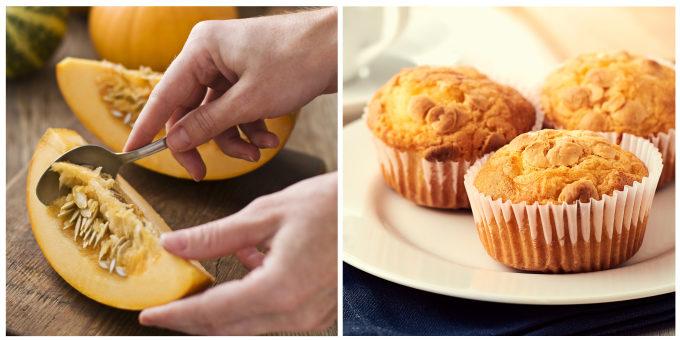 ビタミンや食物繊維がたっぷりのかぼちゃの調理方法とマフィン