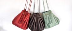 「mercredin.」の色とりどりの革バッグ