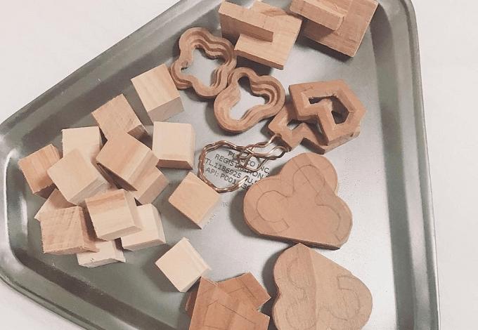 大人可愛い「suui(スウイ)」の木製ピアスの制作過程