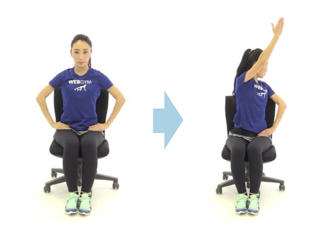 くびれに効果的なトレーニング「体側捻り」手順