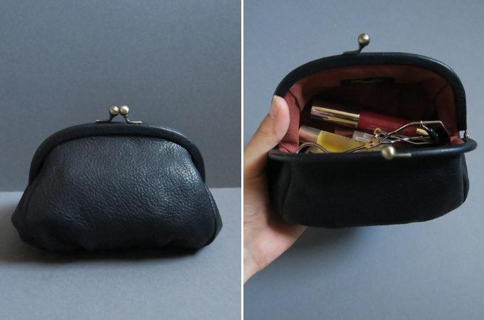 Yammartの革のがま口財布