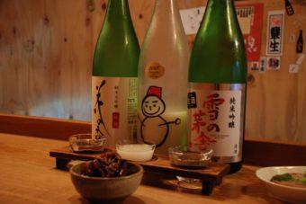 人形町の立ち飲み日本酒バー「3bis」で、フレンチと日本酒のマリアージュを堪能