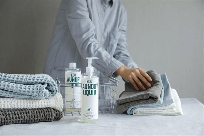 大掃除におすすめ、環境にも身体にもやさしい「GREEN MOTION」の洗濯用の洗剤