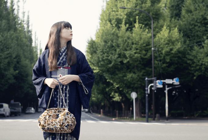 簡単に着られる「KIMONO by NADESHIKO」の着物コーディネート例3