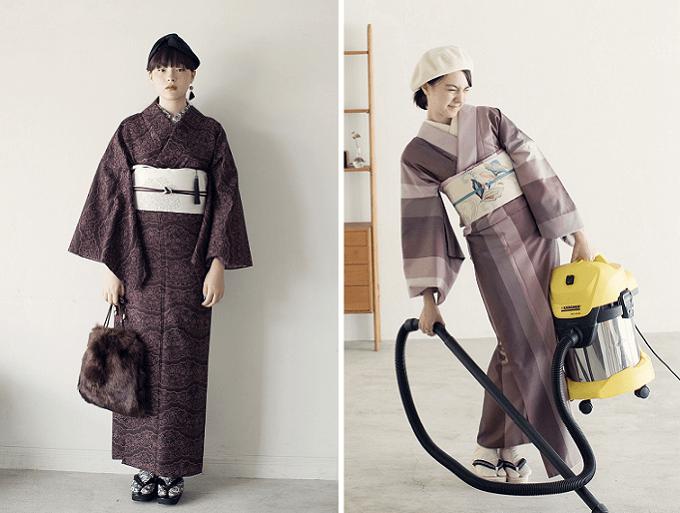 簡単に着られる「KIMONO by NADESHIKO」の着物コーディネート例2