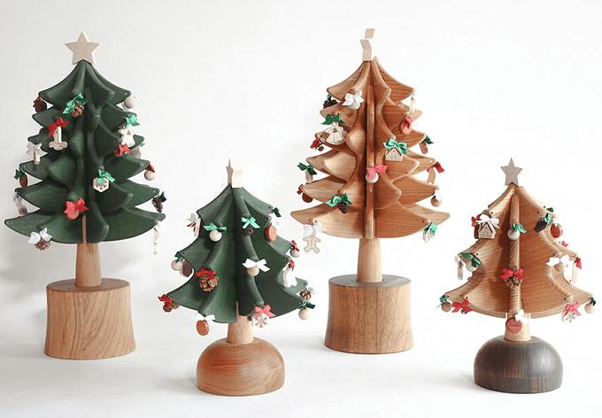 プレゼントにもおすすめ「Oak Village」のオルゴールツリーのカラーとサイズ展開
