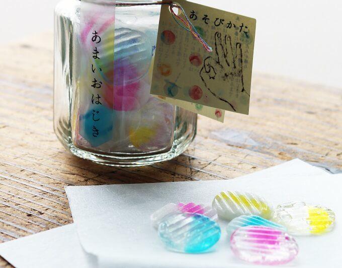 お土産におすすめのおはじきの形をした「越乃雪本舗大和屋(こしのゆきほんぽやまとや)」の可愛いお菓子