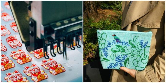 和小物を取り扱う「京東都(きょうとうと)」の刺繍を施した小物