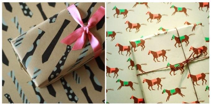 おすすめ「REGARO PAPIRO」のネクタイや馬の柄のラッピングペーパー